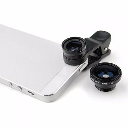 lente ojo de pez para todo tipo de smart phone