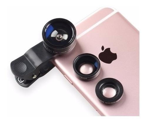 lente olho de peixe p/ selfie foto celular fisheye universal