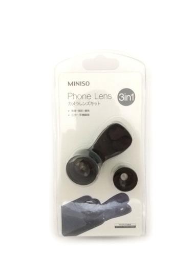 lente olho de peixe p/ telefone universal combo 3 em1