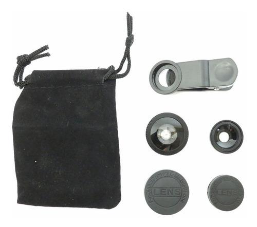 lente olho de peixe para telefone universal combo 3 em 1 pt