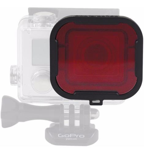 lente p/ mergulho cor vermelho para go pro hero 5 6 7 black