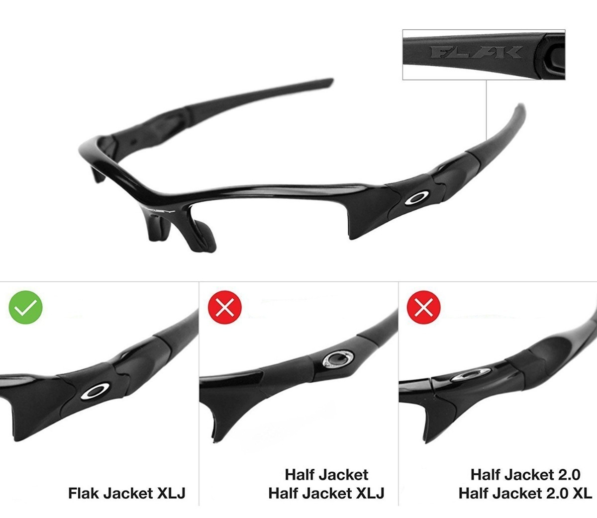 Lente P Oakley Flak Jacket Xlj 12x Boleto Uva - R  115,00 em Mercado ... b9720da494