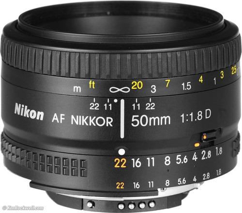 lente para camara nikon 50mm f/1.8d 100% original nuevo