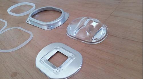 lente para led cob alta potencia cristal aluminio 50w 100w