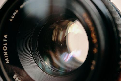 lente para nikon minolta rokkor-x 50mm f.1.7 adaptado nikon