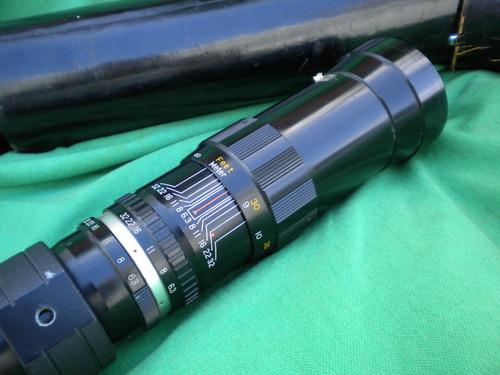 lente petri teleobjetivo 400 mm