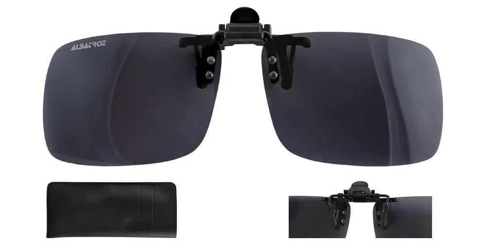 58aae4b7cddcd lente polarizada clip on para óculos grau uv400 albatroz. Carregando zoom.