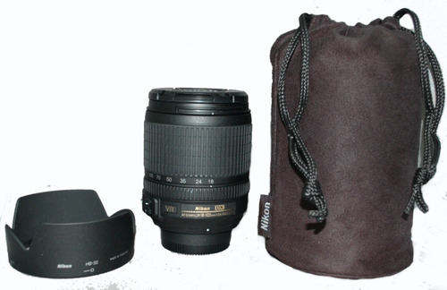 lente profesional nikon 18-105mm f/3.5-5.6g ed vr af dx au1
