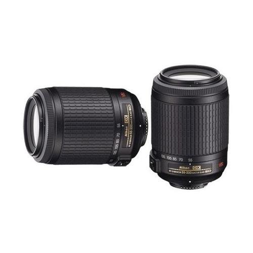 lente profesional nikon 55-200mm f/4-5.6g af-s dx vr zoom