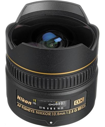 lente profissional nikon fisheye af dx 10.5mm f/2.8g ed **