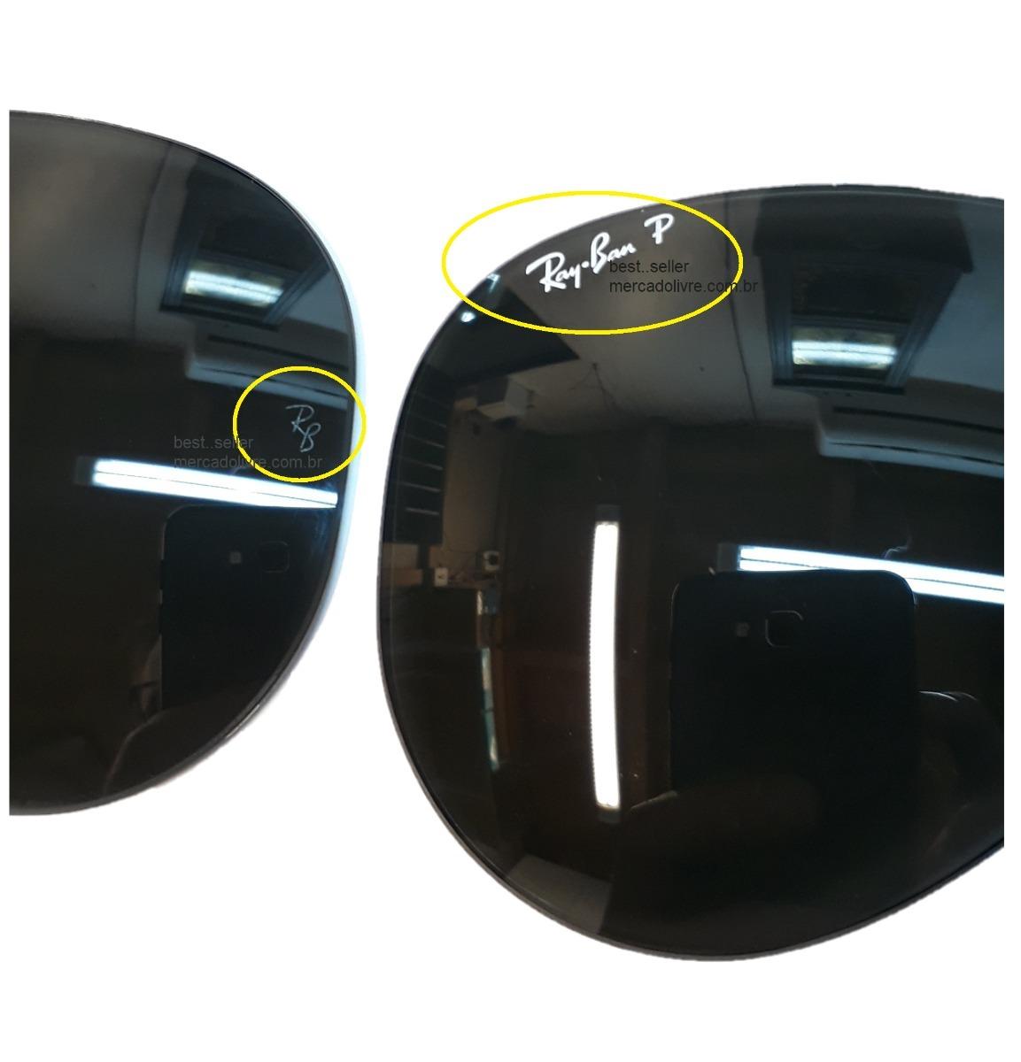 c084b7d66f lente rayban aviador rb 3025 58 medio polarizado verde 001/. Carregando  zoom.