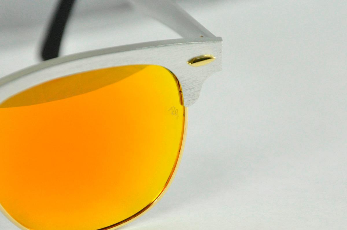 4349dd4c98d89 lente rayban clubmaster 3507 aluminio tornasol 100% original. Cargando zoom.