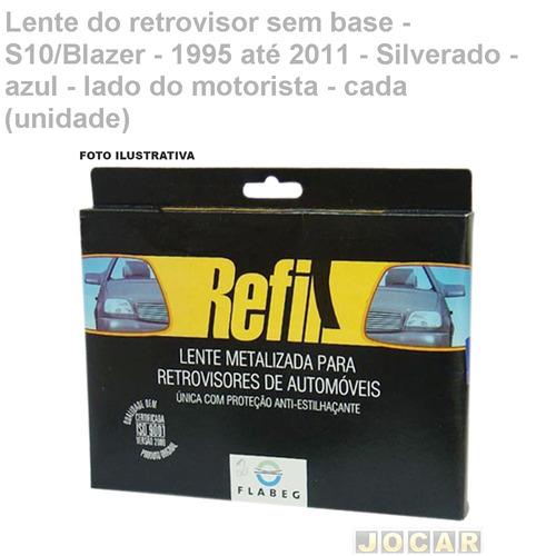 lente retrov s/base-s10/blazer-1995/2011-silverado-az-esq