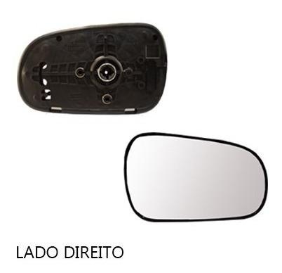 lente retrovisor honda civic 99/00 com base - lado esquerdo