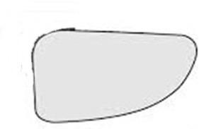 lente retrovisor inferior com base master 13 14 15 ld