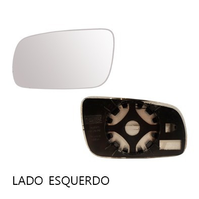 lente retrovisor saveiro g4 04/08 com base - cada lado
