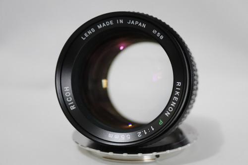 lente ricoh rikenon p 55mm f 1.2 pk (tomioka) canon eos ef