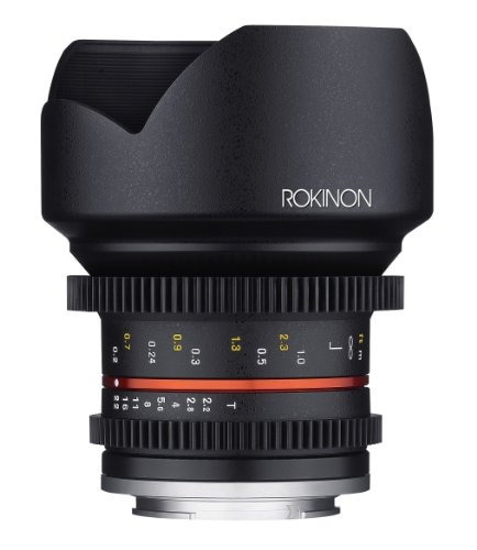 lente rokinon cine cv12m-mft 12mm t2.2 cine fixed lens for
