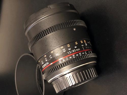 lente rokinon cine lens 85mm canon