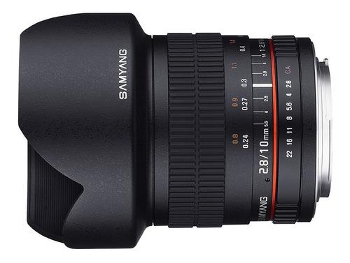 lente samyang 10mm f2.8 ed as ncs cs ultra wide angle lens