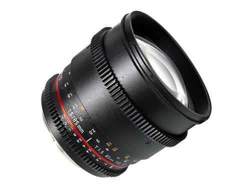 lente samyang cine sycv85m-mft 85mm t1.5 cine aspherical