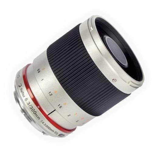 lente samyang sy300m-mft-s 300mm f6.3 lente de espejo para