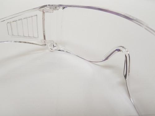 lente seguridad transparente tipo goggle ventilación lateral