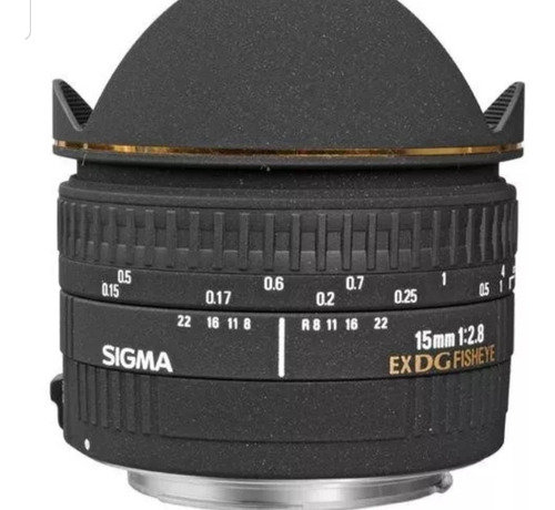 lente sigma 15mm f\2.8 ex dg fisheye olho peixe canon