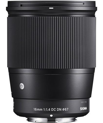 lente sigma 16mm f/1.4 dc dn contemporary - sony novo