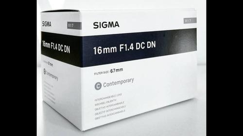 lente sigma 16mm f1.4 dc dn (sony e) - acompanha recibo