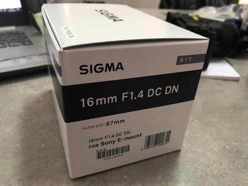 lente sigma 16mm f1.4 para sony e a6000 a6300 a6400 a6500