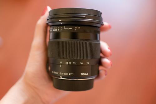 lente sigma 17-70mm f2.8-4 dc macro