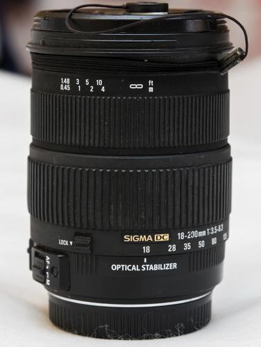 lente sigma 18-200 mm 3.5-6.3f