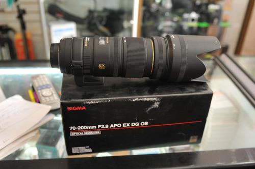 lente sigma 70-200 f2.8 nikon/canon con estabilizador optico