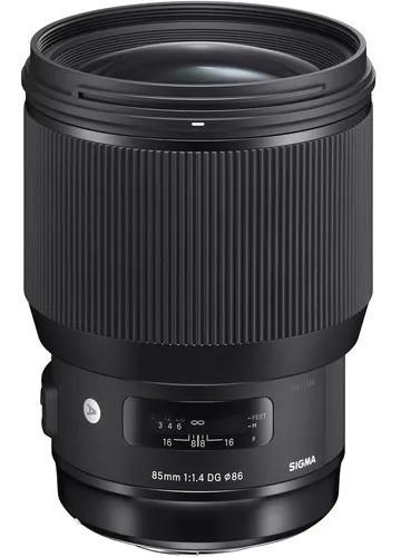 lente sigma 85mm f/1.4 dg hsm série art autofoco canon