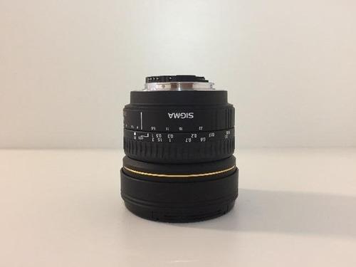 lente sigma 8mm f/3.5 ex dg circular fisheye p/ nikon ef