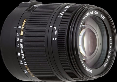 lente sigma dc 18 - 250mm f3.5-6.3