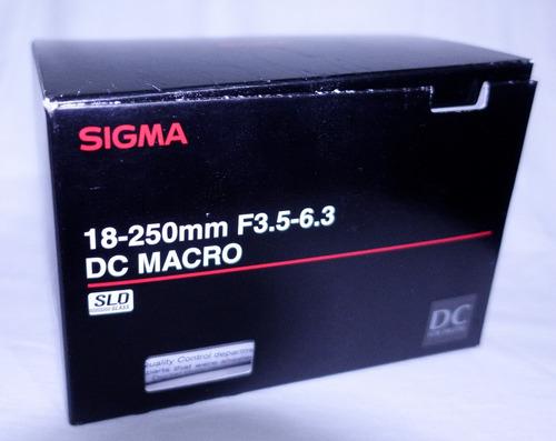 lente sigma dc 18-250mm f/3.5-6.3 oss montura sony tipo a