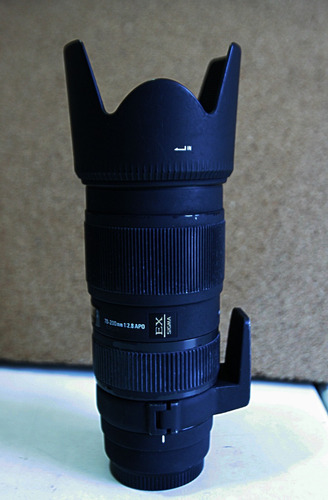lente sigma para canon, modelo ex 70-200 1:2.8 apo,
