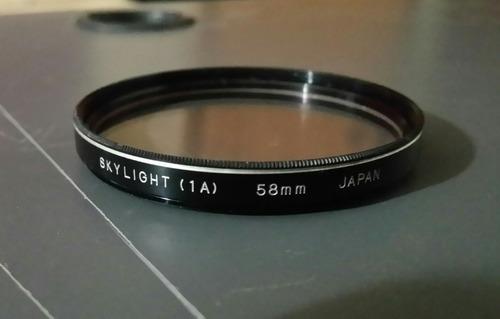 lente skylight 58 mm