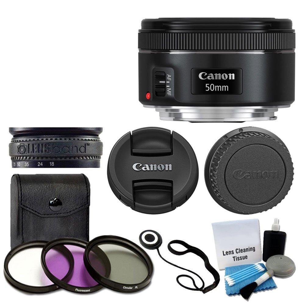 Lente Slr Canon 50mm F/1.8 Stm - Canon + Kit 3 Piezas Filtro ...