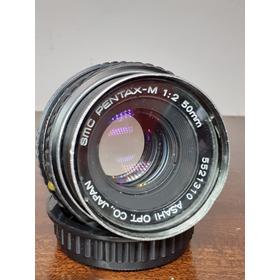 Lente Smc Pentax-m 1:2 50mm Made In Taiwán