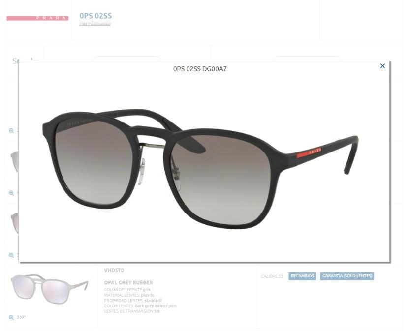 e5f4c1a999 Lente Solar Prada Sport Sps 02s Negro Linea Roja - $ 3,100.00 en ...