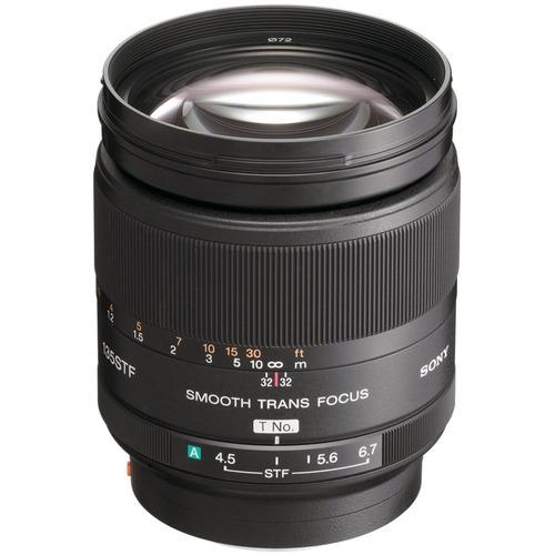 lente sony 135mm 2.8 stf + adaptador sony - a6500 a6300 a7