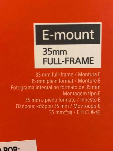 lente sony 16-35mm f4 e mount nuevo en caja + nd + garantía