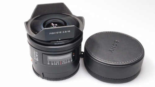 lente sony 16mm f/2.8 fisheye a-mount