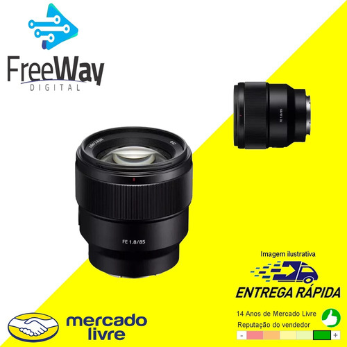 lente sony 85mm fe 1.8 /sel85f18/e-mount c/ nota fiscal