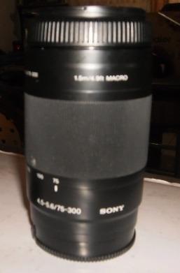 lente sony alpha 75-300