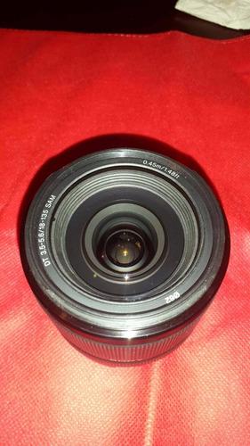 lente sony dt 18 135 mm f3,5¿5,6 sam