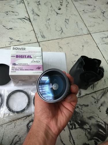 lente super fisheye bower .16 58mm con macro,fits y estuche